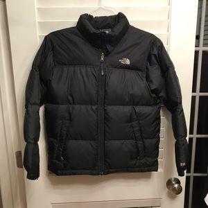 Boys North Face Black Puffer Jacket